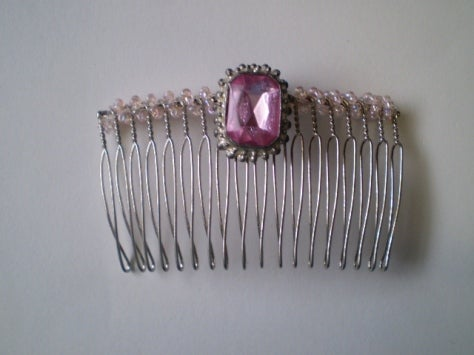 Image of Pink Crystal Flip Comb
