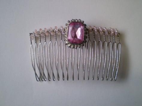 Image of Pink Crystal Flip Comb
