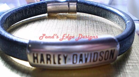 Image of Motorcycle Leather Bracelet