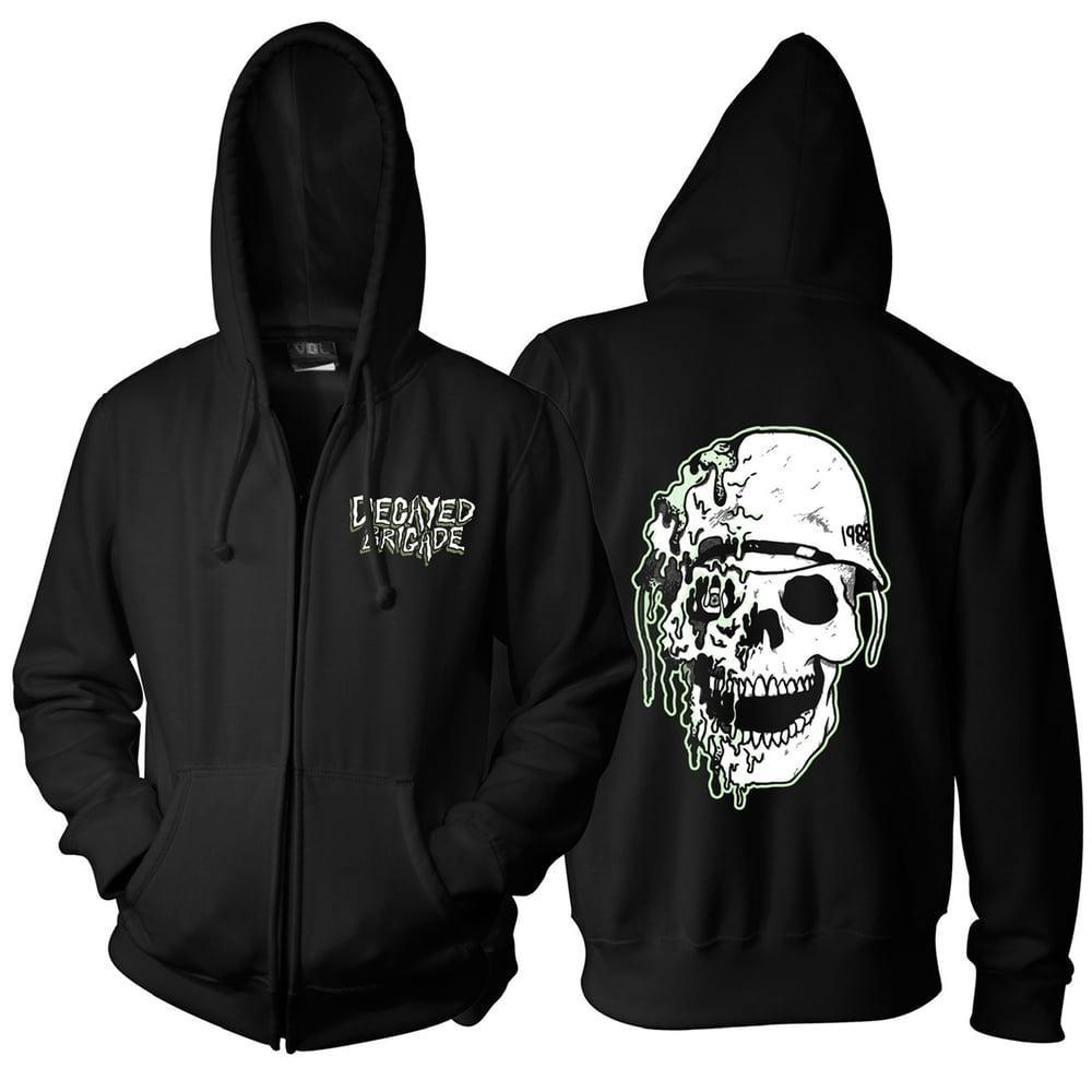 Image of Melted Skull Glow Hoodie