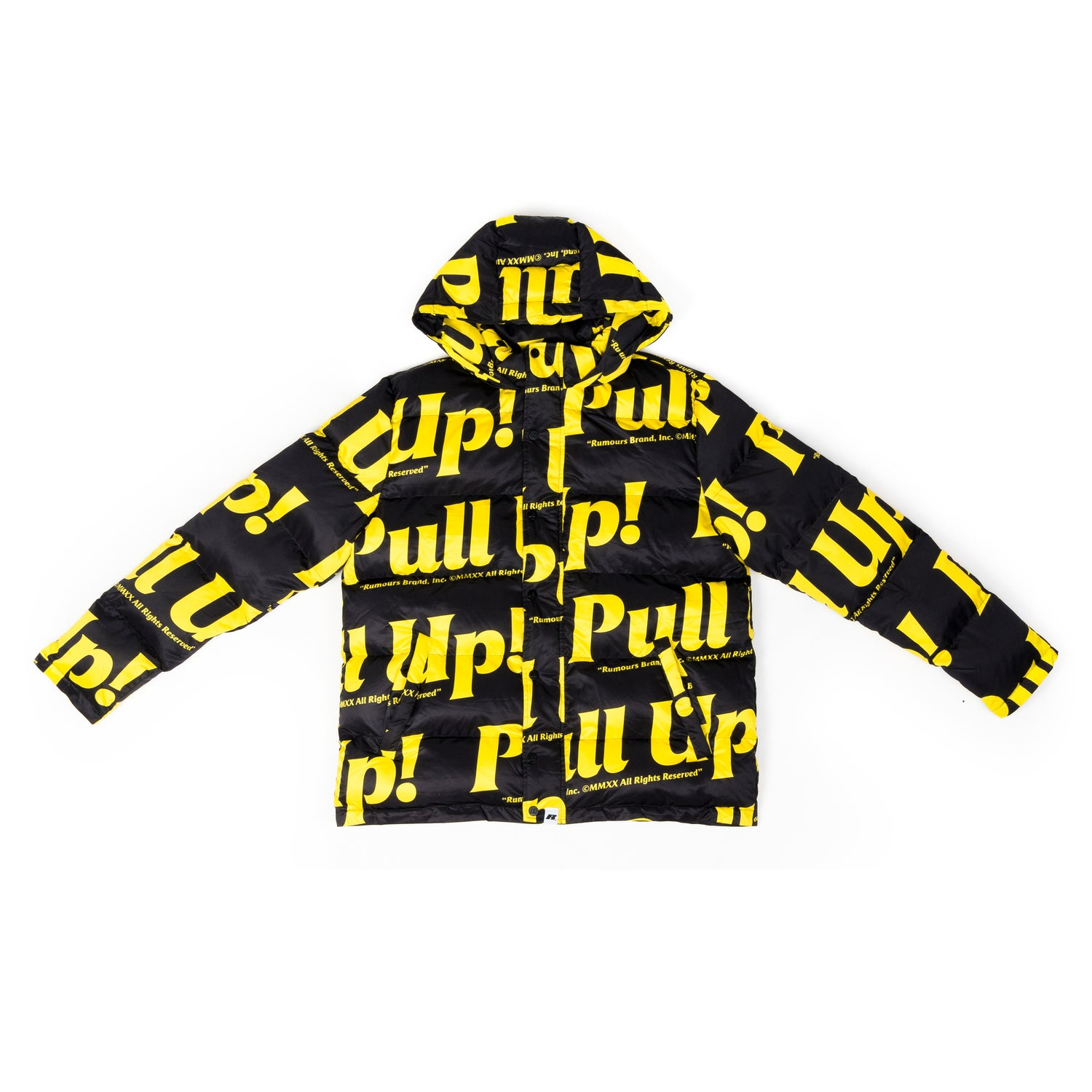 Image of Pull Up! Puff Coat (Black/Gold)