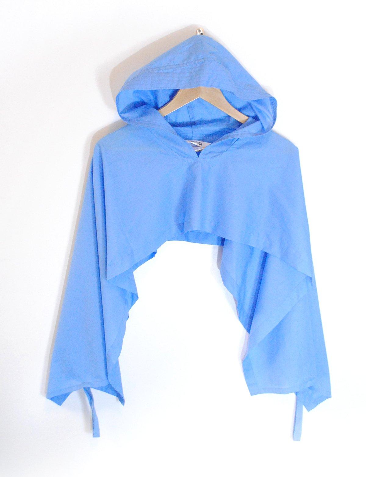 Hoodie Poncho - Sky Blue