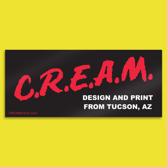 "Image of ""DARE to CREAM"" - 5"" x 2"" Sticker"