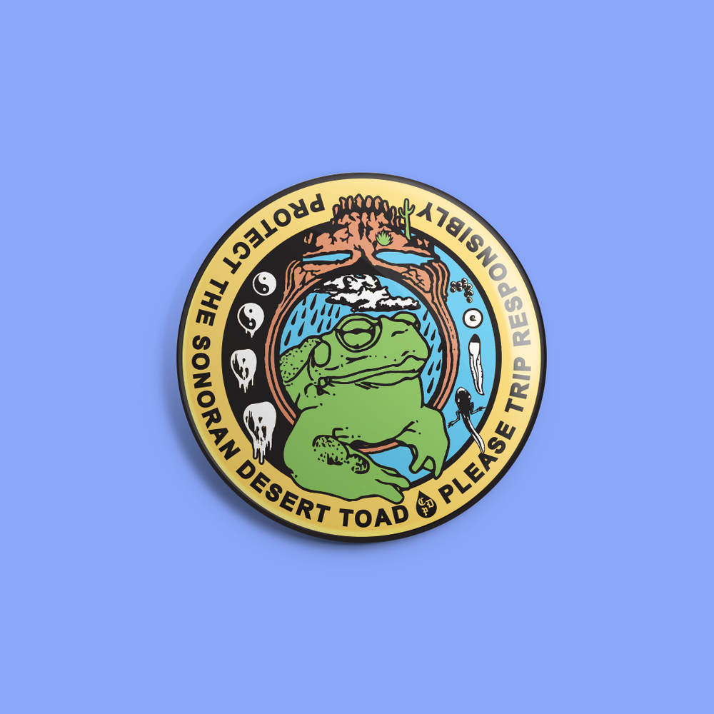 "Image of ""protect the toad"" - 1.25"" round pin"