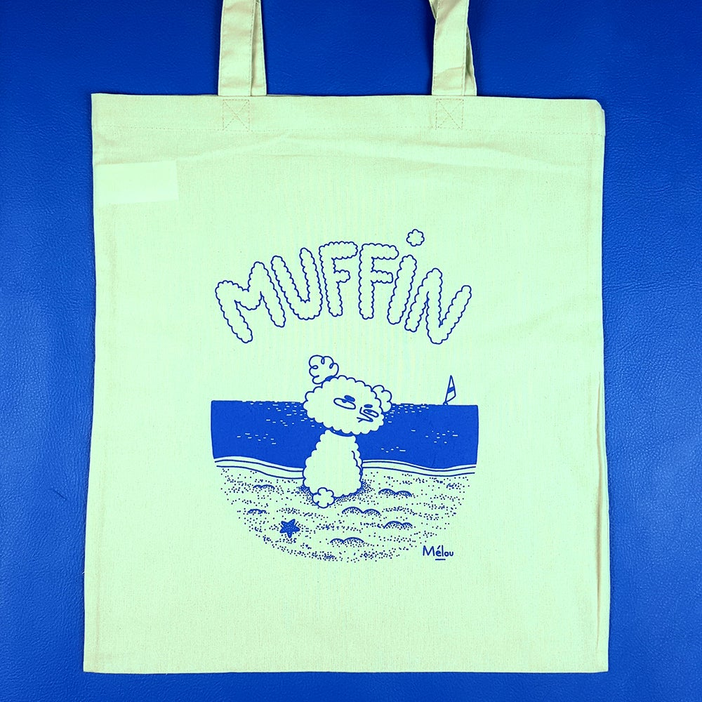 Image of Tote bag Muffin bleu