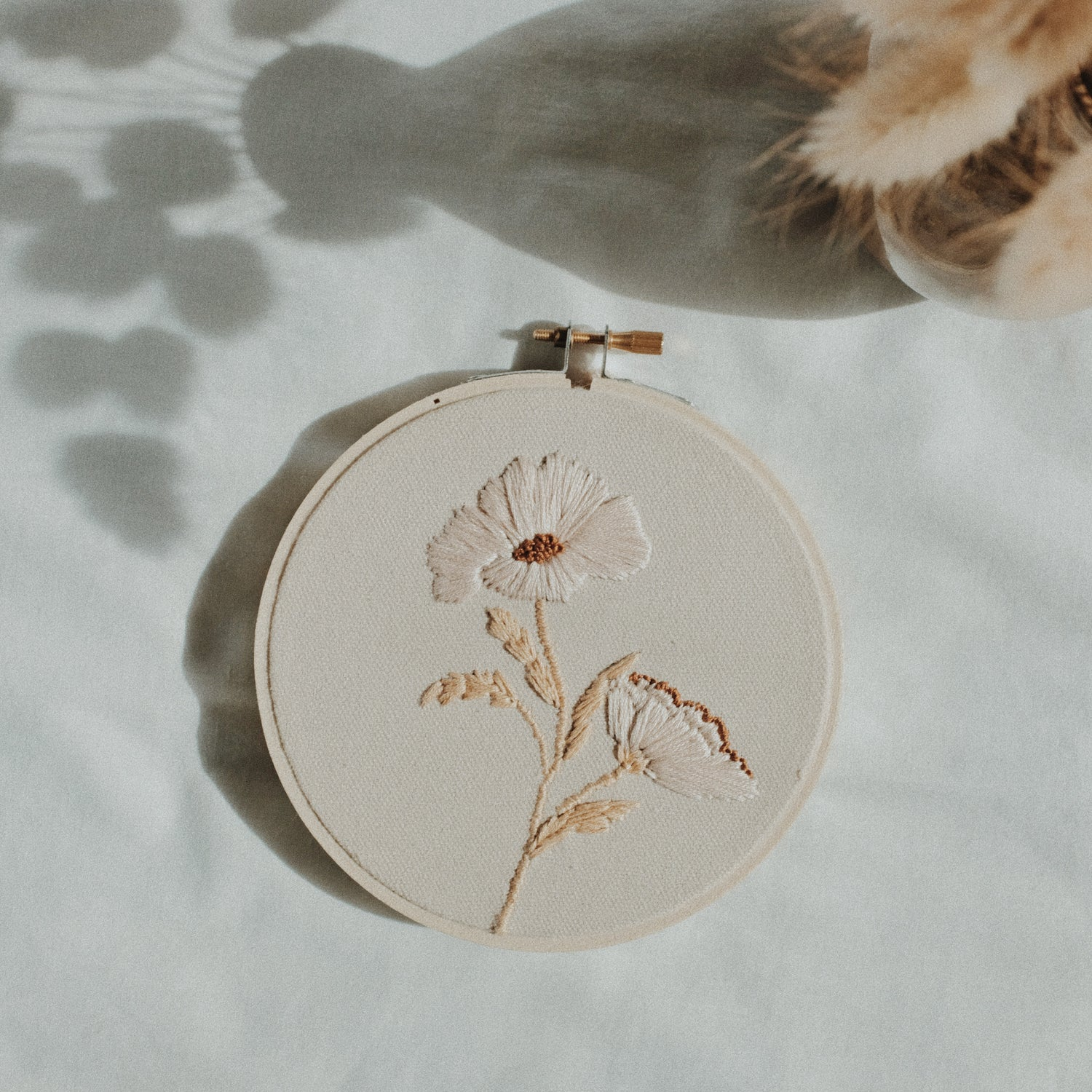 Image of Blooming Wildflower Hand Embroidered Hoop (Small)