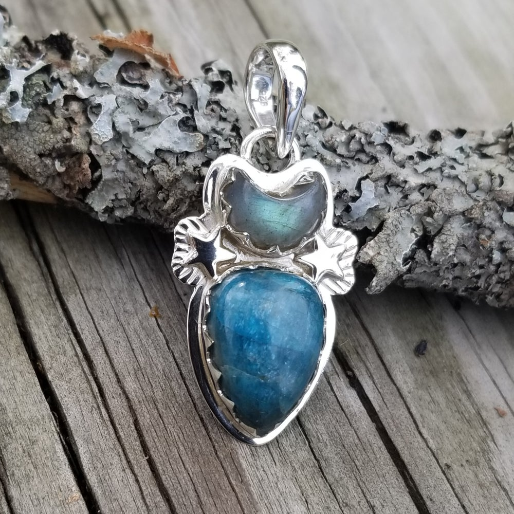Image of Agave Pendant - Apatite & Labradorite in Sterling