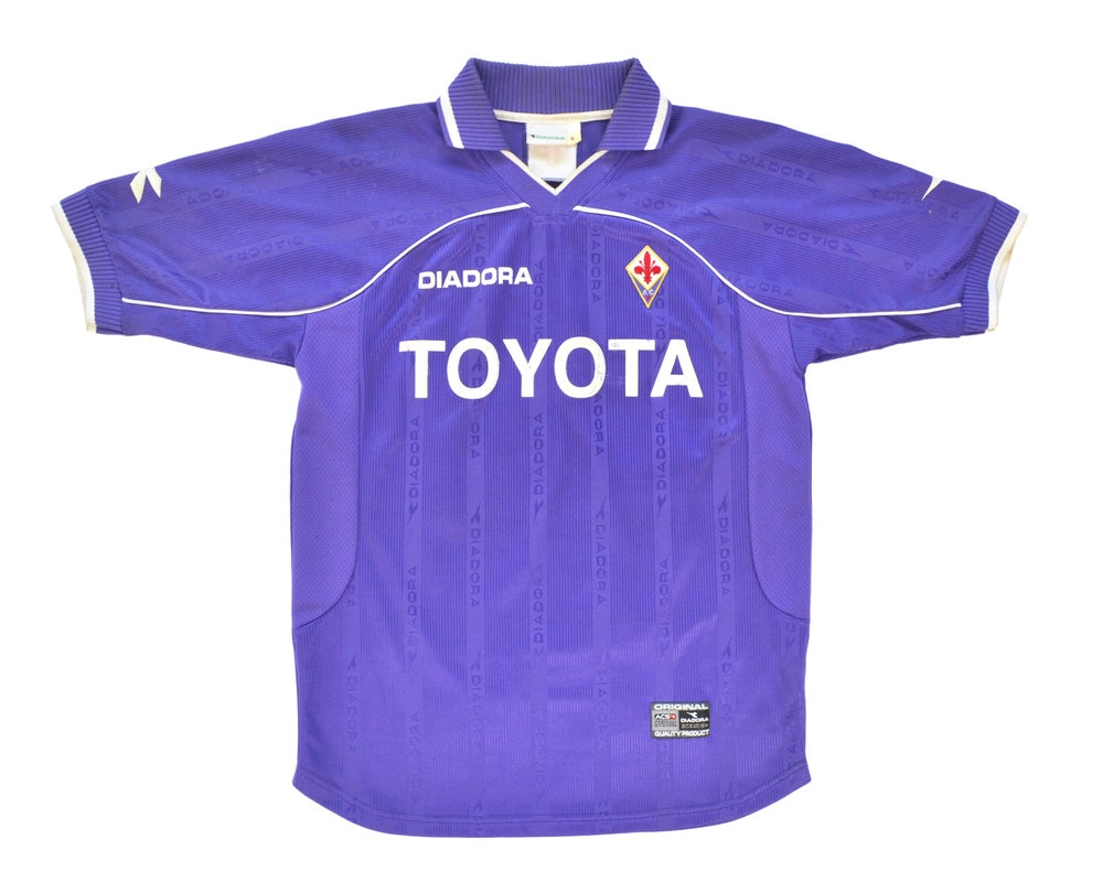 Image of 2000-01 Diadora Fiorentina Home Shirt 'Chiesa 20' M