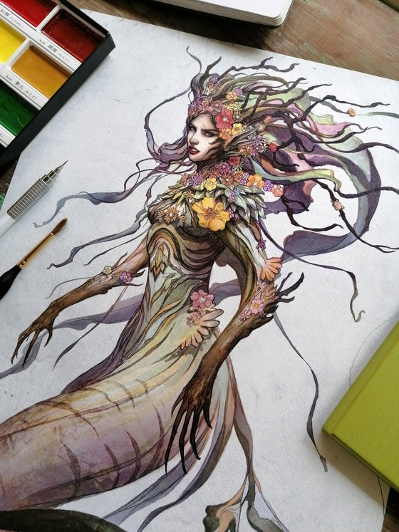 Image of Forest mermaid. Limited edition