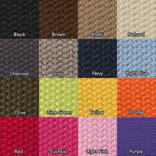 "Image of Cotton Canvas Strap - Adjustable - 1.5"" Wide - Choose Color, Length & Gold or Nickel #16XLG Hooks"