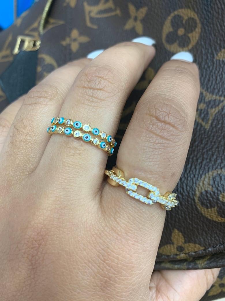 Image of Diamond Adjustable ring  (index finger)