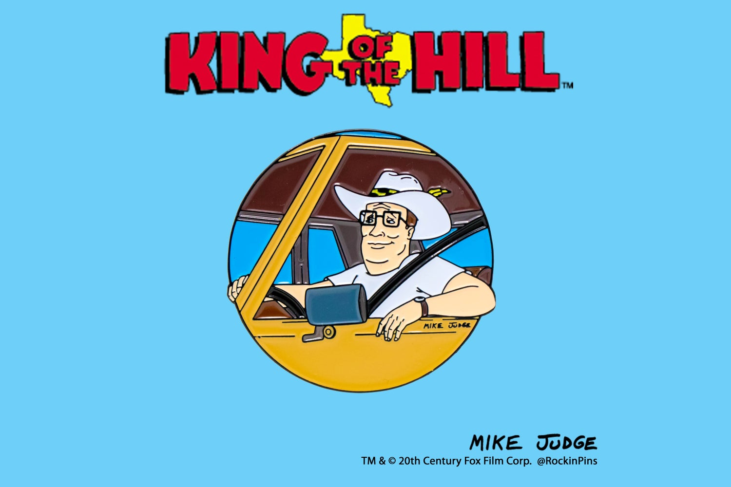 Image of King of the Hill - Hank Hill Mac Daddy Enamel Pin