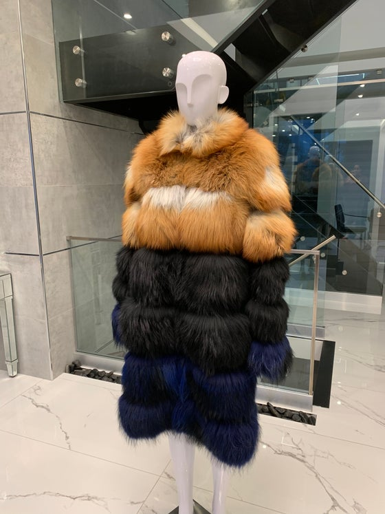 Image of Custom 3in1 Multi Colour Fur Coat