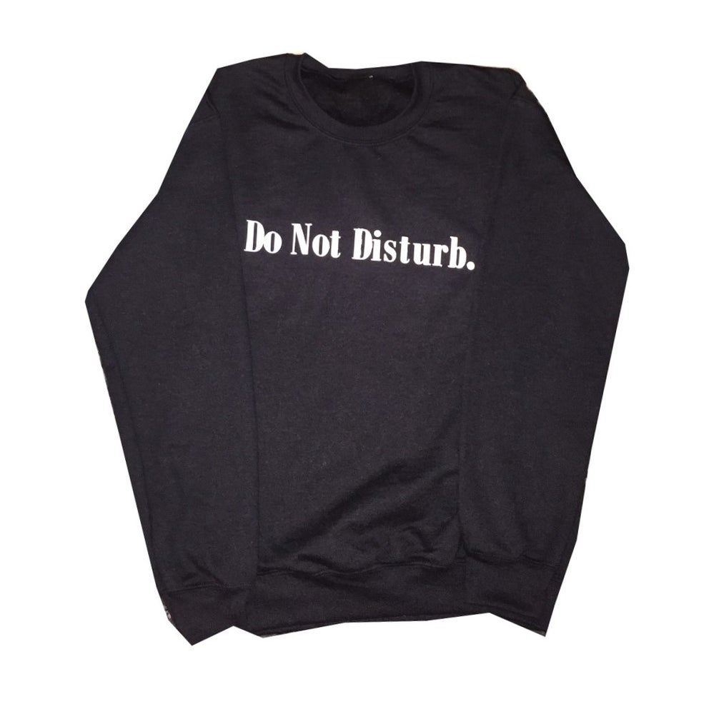 "Image of Everyday Do Not Disturb Crewneck ""Black"""