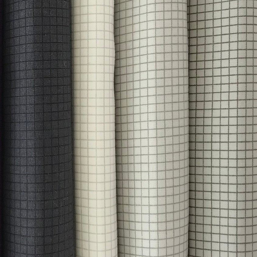Image of Gridwork Square Grid Neutrals By the Yard - Select Color