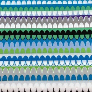 Gridwork Arches Stripe By the Yard - Select Color