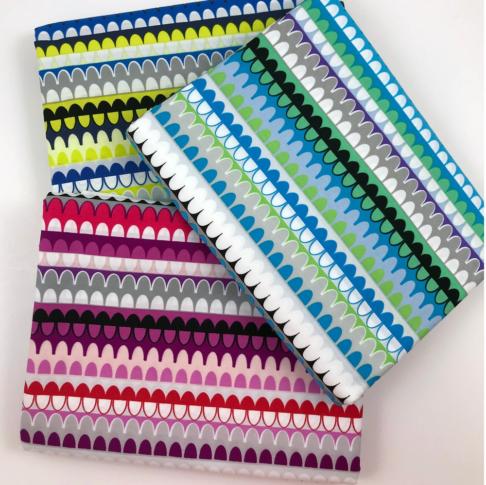 Image of Gridwork Arches Stripe By the Yard - Select Color
