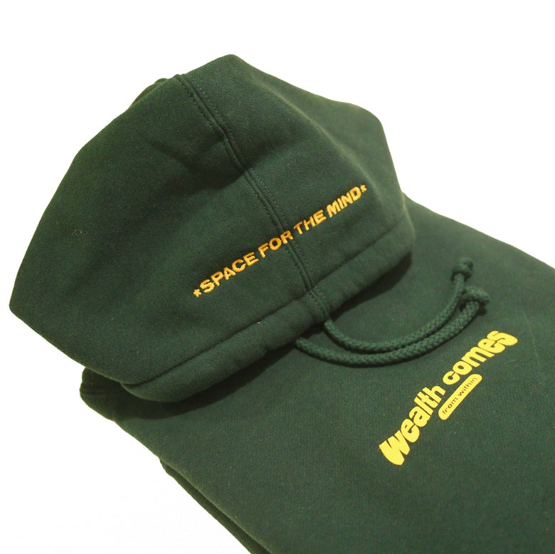Image of Wealth Comes From Within Hoodie (Evergreen)