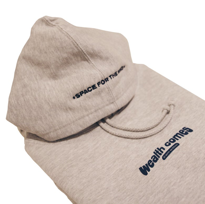 Image of Wealth Comes From Within Hoodie (Heather Grey)