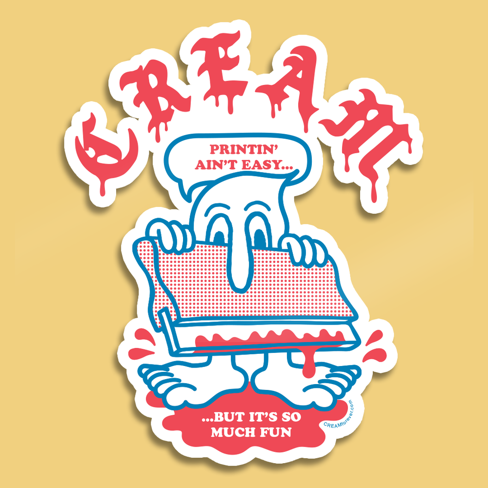 """Image of """"Squeegee Creature"""" - 4"""" x 4"""" Sticker"""