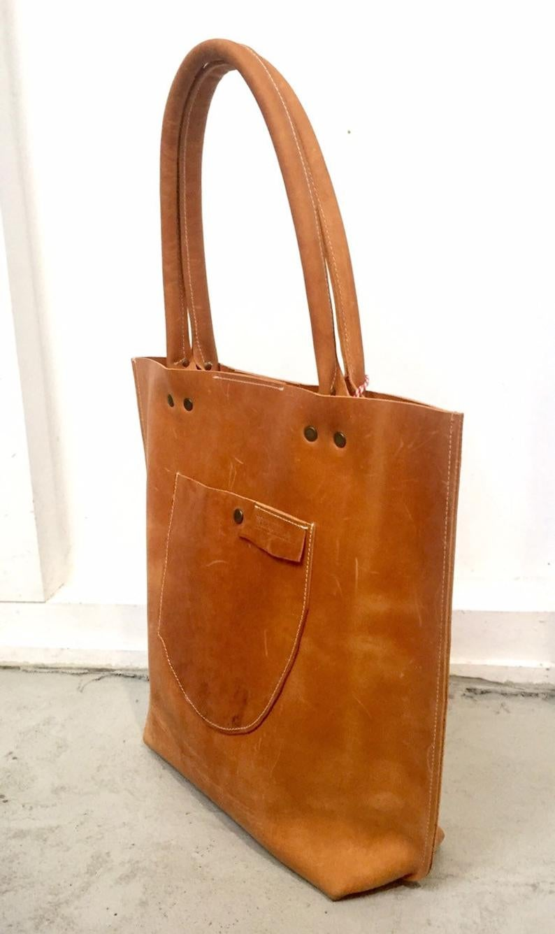 Image of Cognac Colored Leather Hobo Bag