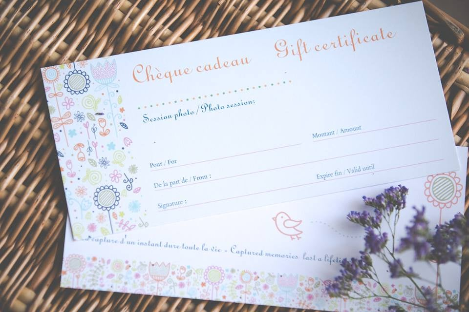 Image of Chèque cadeau-gift certificate