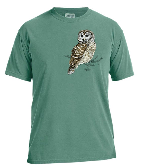 Image of Barred Owl garment dyed t-shirt