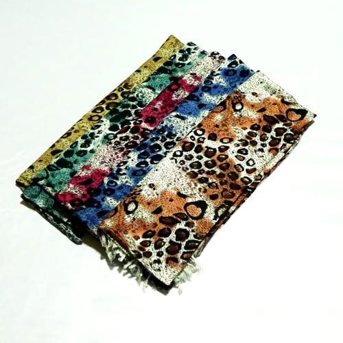Image of Leopard Print Pashmina Scarf Shawl