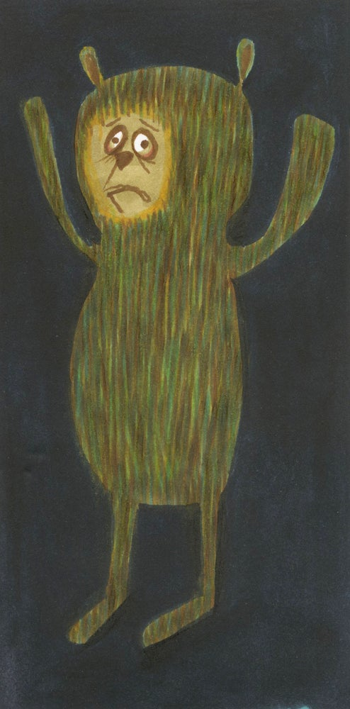 Image of The reluctant bear. Original drawing.