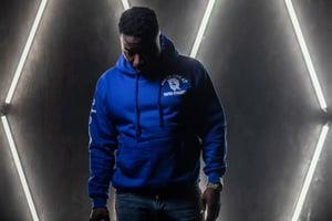 Image of Cool Blue GIGPS Letterman Hoodie & Full Sweatsuit