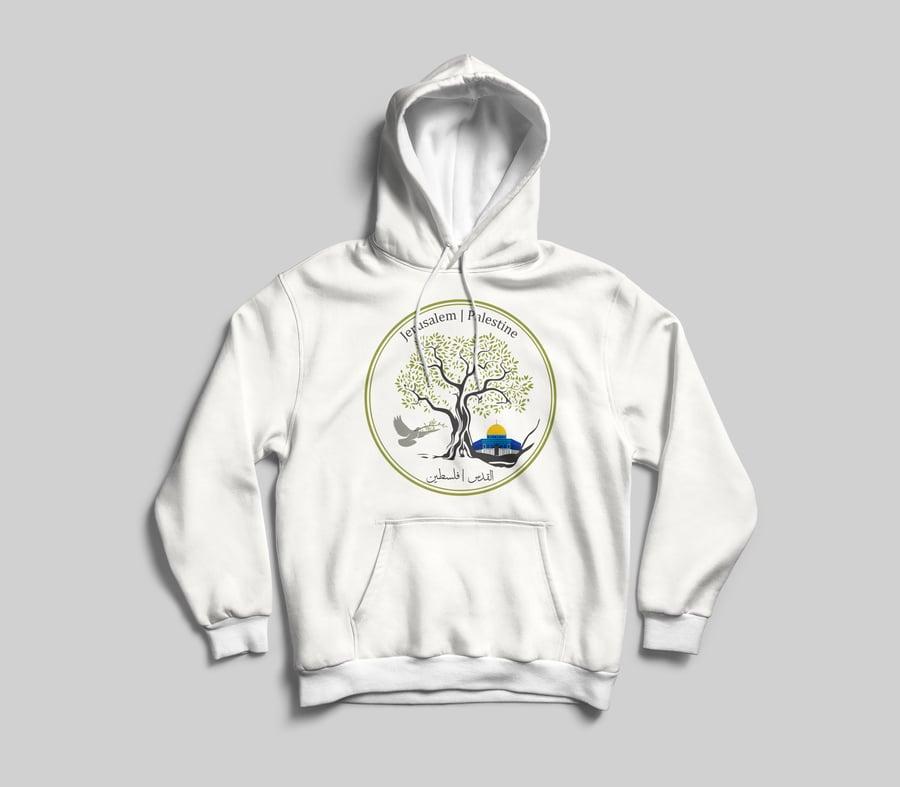 """Image of Jerusalem """"Olive Tree"""" Hoodie"""