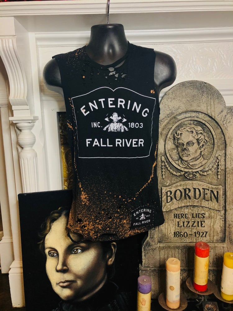 Image of Entering Fall River Distressed Tee