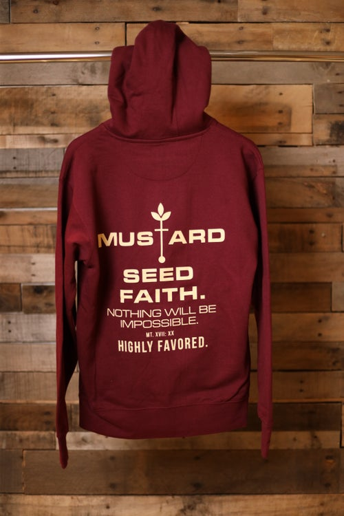 Image of Highly Favored Mustard Seed Faith Zip Up Hoodie