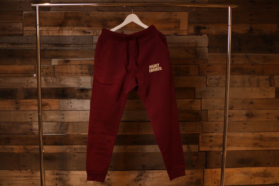 Image of Highly Favored Maroon Joggers