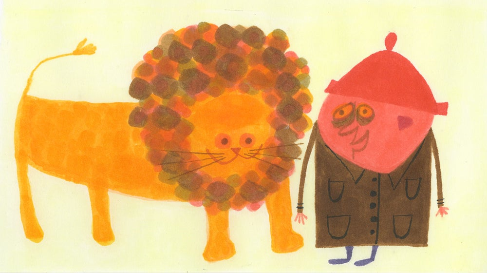 Image of Herbert and his human friend, Ralph. Original drawing.