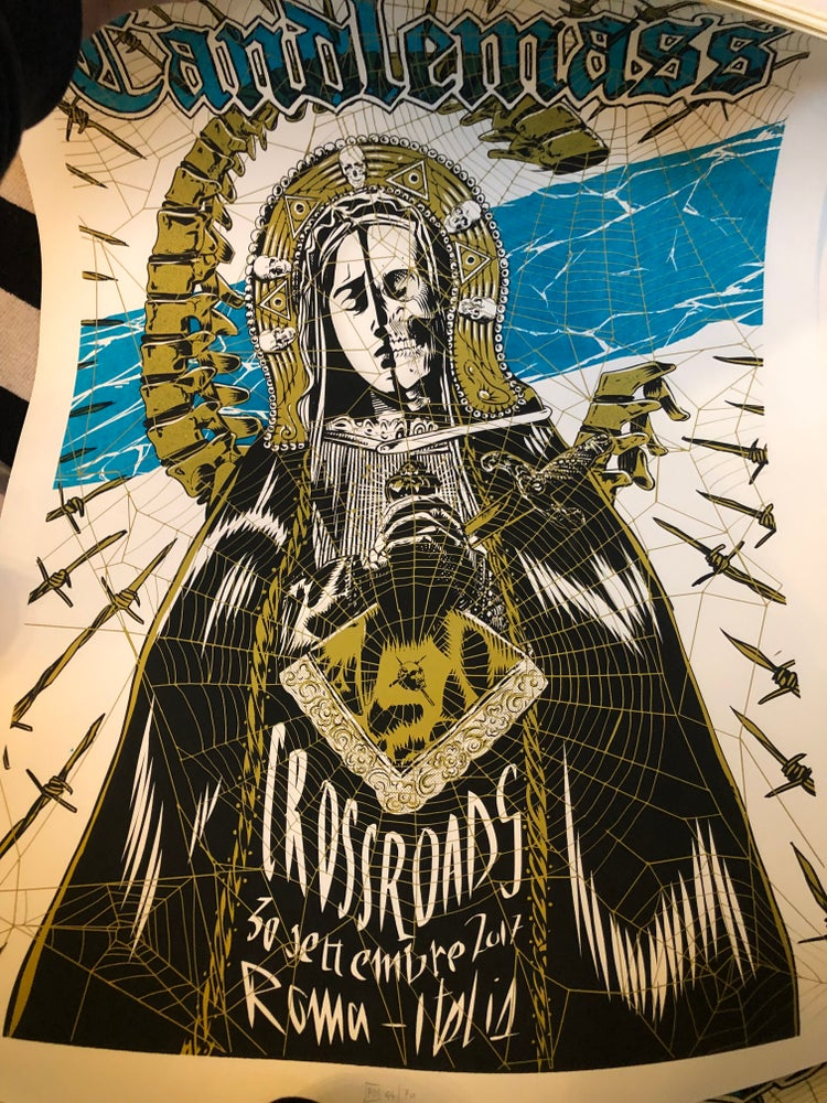 Image of Candlemass poster - Rome Sep 30 2017