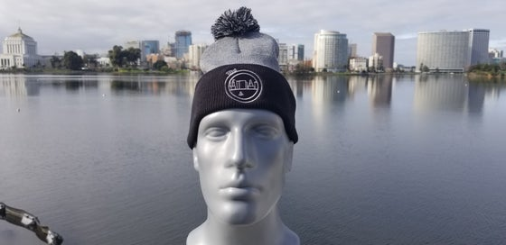 Image of The O Beanie Black And Gray