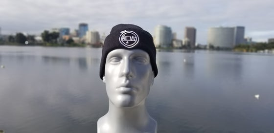 Image of The O Beanie Black And White