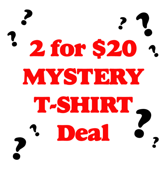 "Image of 2 ""Mystery"" T-Shirts for $20"