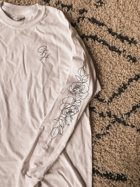 Image of White floral long sleeve