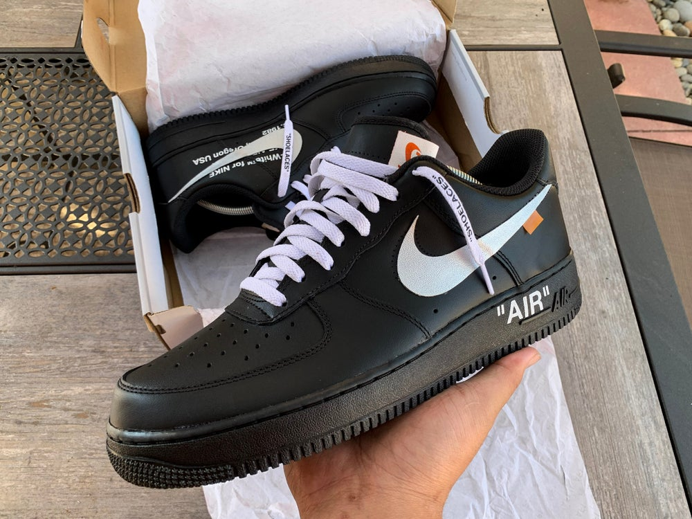 Image of Off-White™ Inspired Air Force 1 (Black)