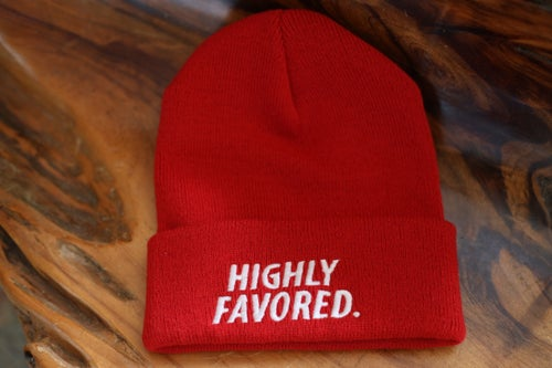 Image of Red Highly Favored Skully