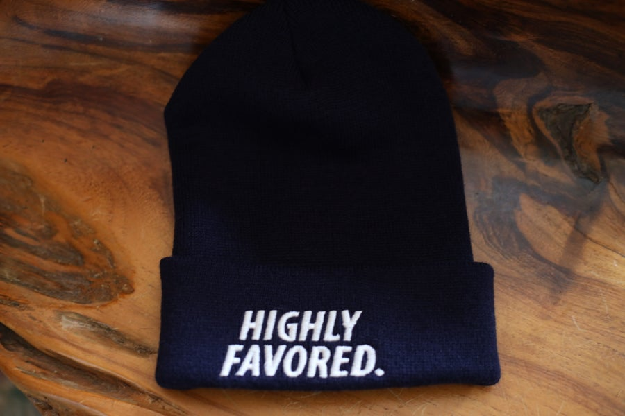 Image of Navy Highly Favored Skully