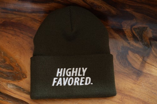 Image of Military Green Highly Favored Skully