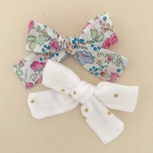 Image of Barrette Bertille Liberty Felicite rose & bleu