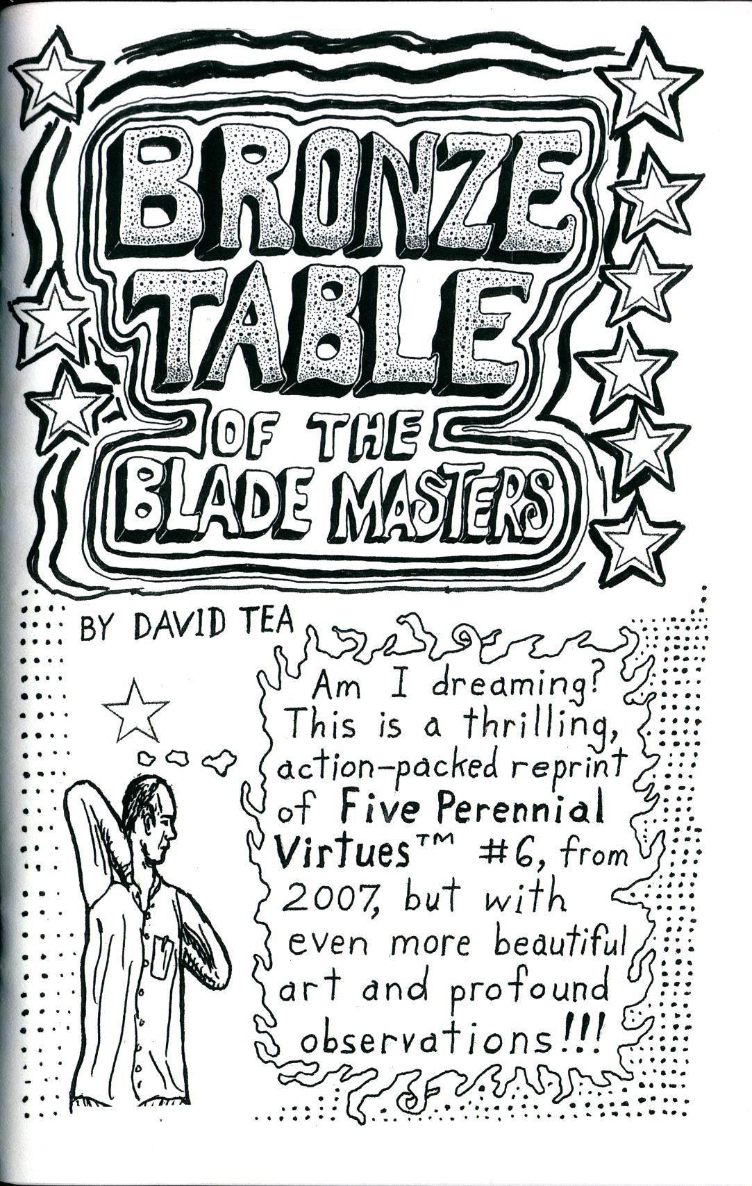 Image of Five Perennial Virtues #6 (Bronze Table of the Blade Masters) by David Tea