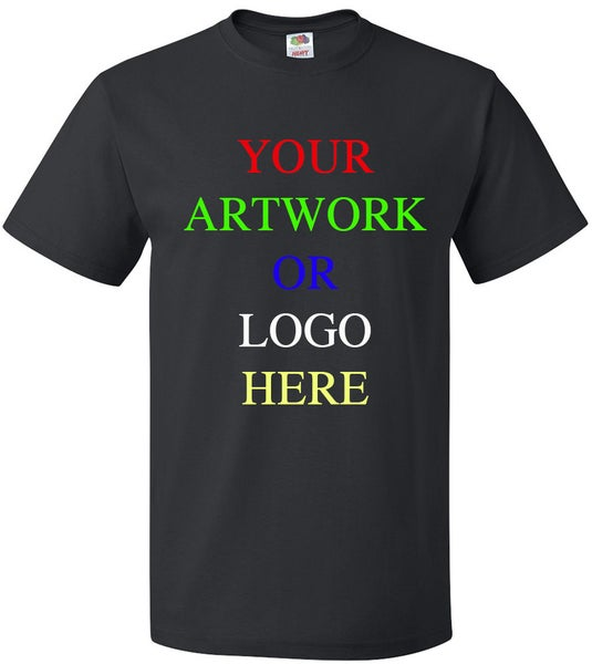 Image of CUSTOM PRINTED T-SHIRT (1-SIDED PRINT)