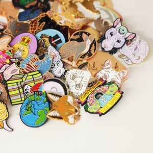 Image of MYSTERY SECONDS PIN BAGS - various designs - more than 50% off! Lucky dip enamel pins!