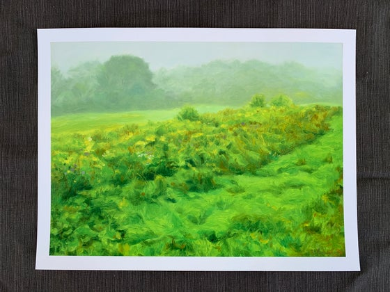 Image of Glowing Green Giclee Print