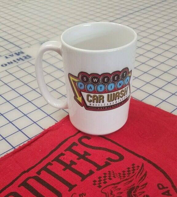 Image of Wheels and Windows Car Wash Mug 11oz or 15oz